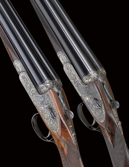 "A FINE PAIR OF 12-BORE SINGLE-TRIGGER ""ROYAL DE-LUXE"" MODEL SIDELOCK EJECTOR GUNS BY HOLLAND & HOLLAND, NOS. 27390/27641"