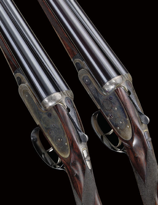 AN EXCEPTIONALLY FINE PAIR OF 12-BORE SELF-OPENING SIDELOCK EJECTOR GUNS BY J. PURDEY & SONS, NOS. 24131/2