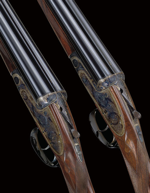 AN EXCEPTIONALLY FINE PAIR OF 12-BORE ROUND-BODIED SELF-OPENING SIDELOCK EJECTOR GUNS BY J. PURDEY & SONS, NOS. 29751/2