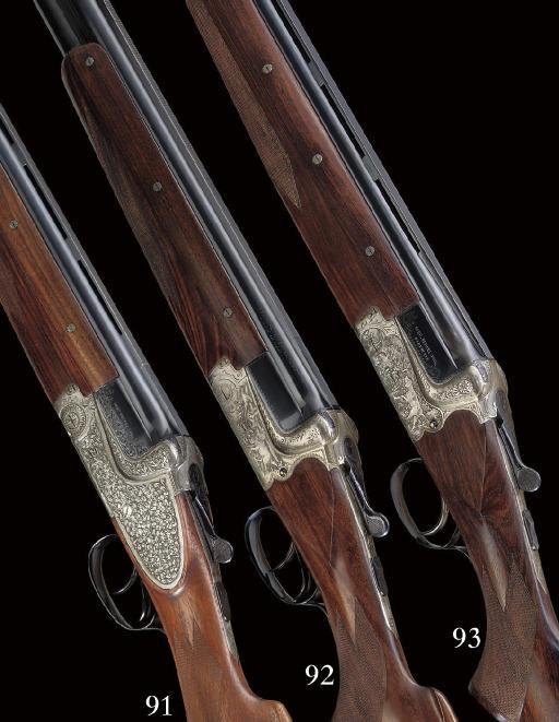 A 12-BORE SINGLE-TRIGGER BOXLOCK EJECTOR GUN BY GEBRUDER MERKEL, NO. 158107