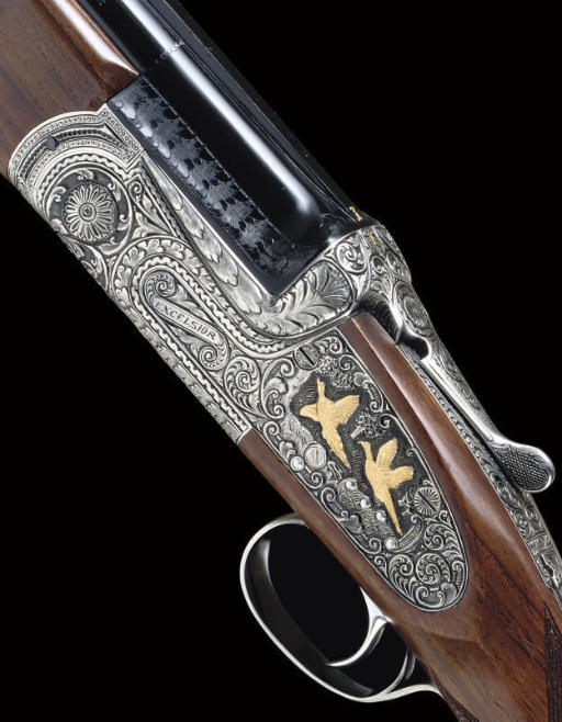 """A 12-BORE SINGLE-TRIGGER OVER-AND-UNDER SIDELOCK EJECTOR """"EXCELSIOR"""" MODEL GUN BY SARRIUGARTE, NO. 90344"""