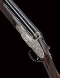 A FINE 12-BORE SINGLE-TRIGGER OVER-AND-UNDER SIDELOCK EJECTOR GUN BY BOSS & CO., NO. 6054