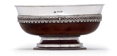 A GEORGE V SILVER-MOUNTED MAPL