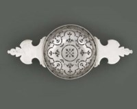 A GEORGE II SILVER ORANGE STRAINER
