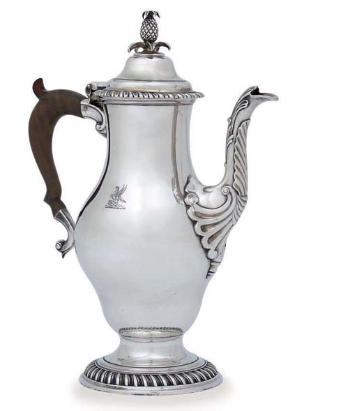 A GEORGE III SILVER CHOCOLATE-POT