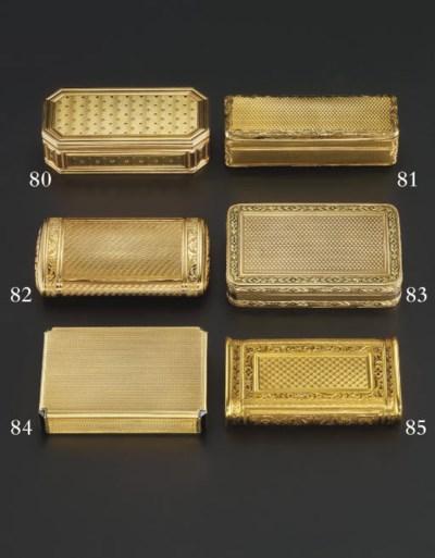 A FRENCH EMPIRE GOLD SNUFF-BOX
