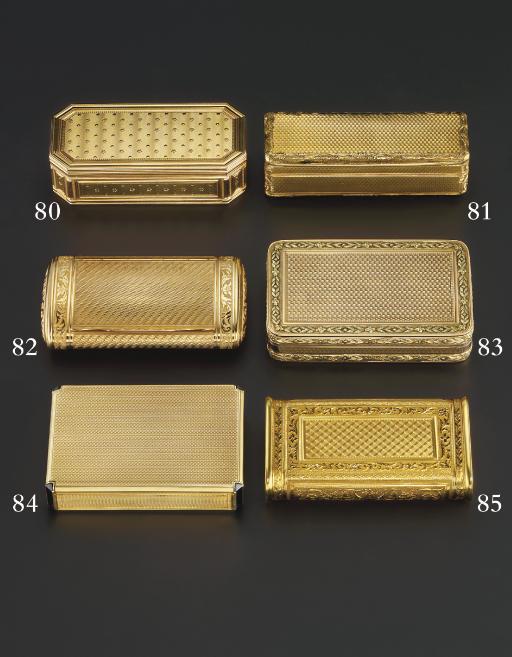 A GEORGE III VARI-COLOUR GOLD