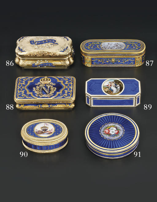 A JEWELLED ENAMELLED FOUR-COLO