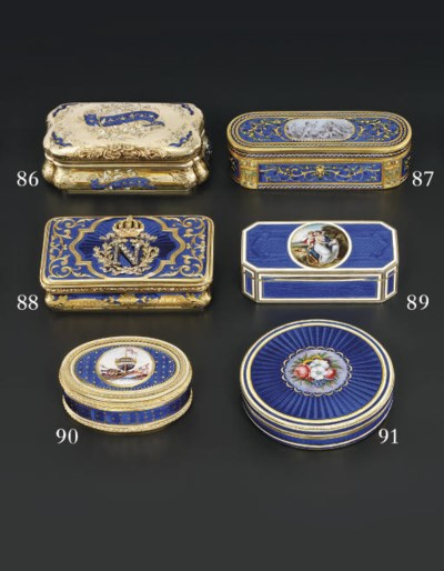 A SWISS ENAMELLED GOLD BONBONN