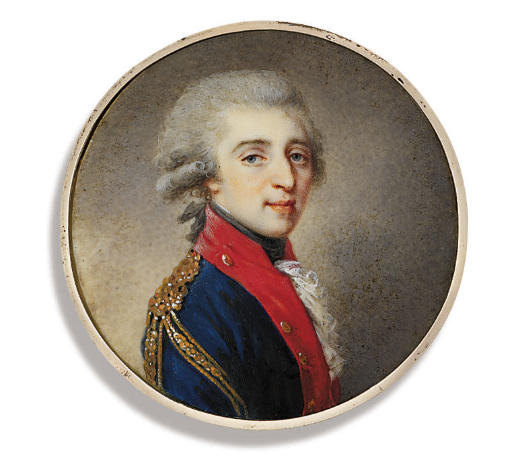 Count Artemii Ekimovich Lazarev (+ 1814), in blue coat with red facings and gold epaulettes
