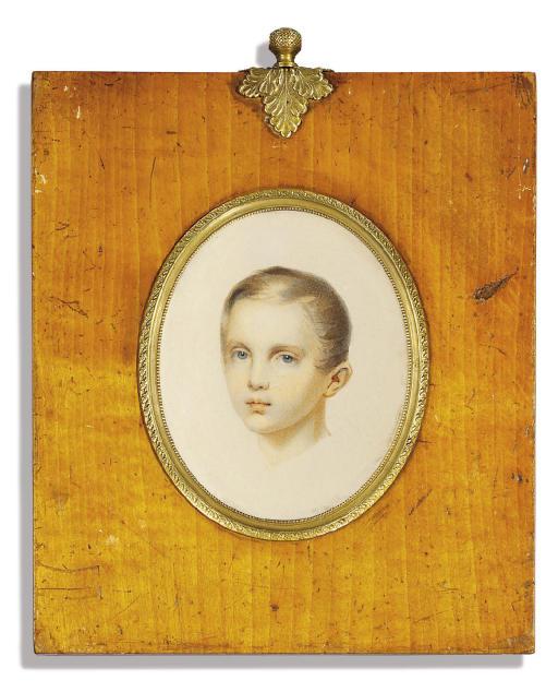 The head of a boy called Tsar Alexander II