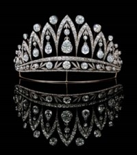 A MAGNIFICENT ANTIQUE DIAMOND TIARA, BY FABERGE