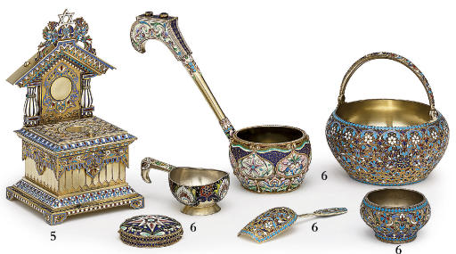 A silver-gilt and cloisonné enamel salt-throne