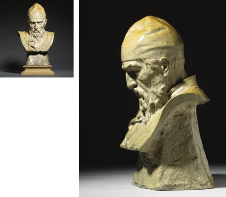 A rare ceramic bust of Ivan th
