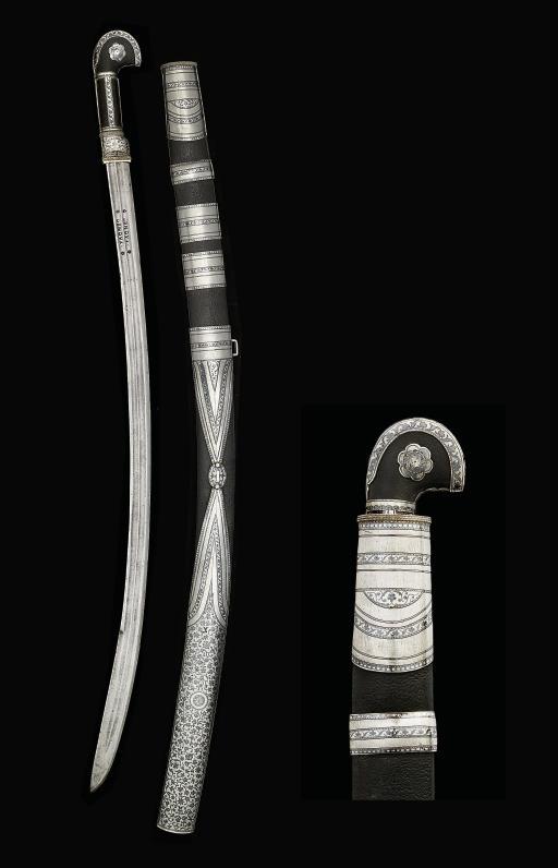 A Caucasian silver and niello