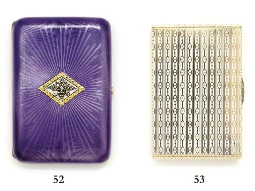 A jewelled enamelled gold ciga