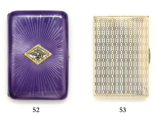 A jewelled enamelled gold cigarette-case