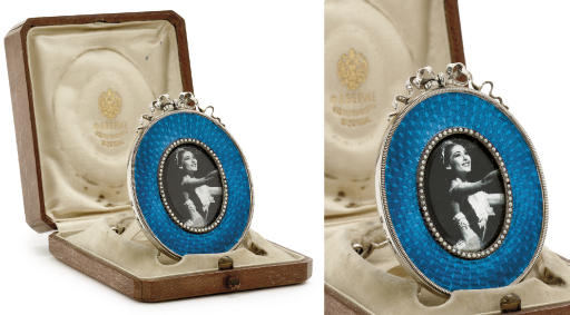 Silver and guilloché enamel ph