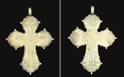 A silver-gilt cross