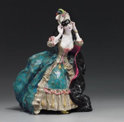 A rare porcelain figure