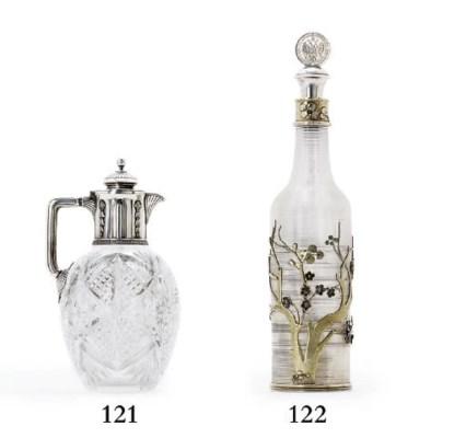 A silver-gilt mounted glass de