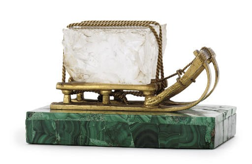 A gilt-bronze, rock-crystal an