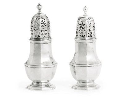 TWO SIMILAR GEORGE I SILVER CA