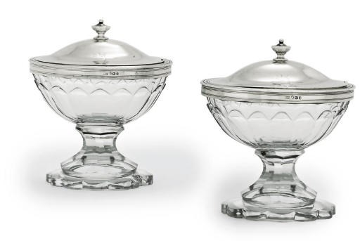 A PAIR OF GEORGE III SILVER-MO
