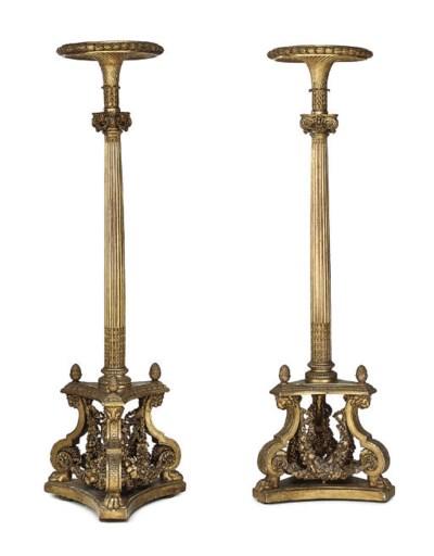 A PAIR OF LOUIS XVI GILT-WALNU