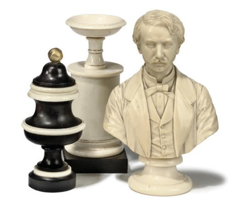 A LATE VICTORIAN TURNED IVORY