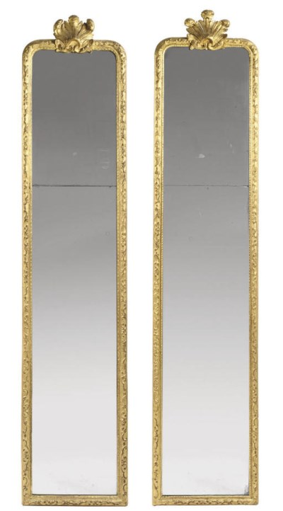 A PAIR OF FRENCH GILTWOOD PIER