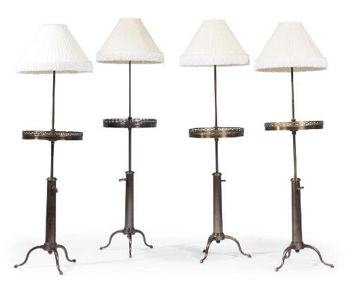 A SET OF FOUR FRENCH LACQUERED