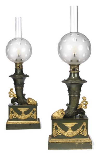 A PAIR OF CHARLES X ORMOLU AND