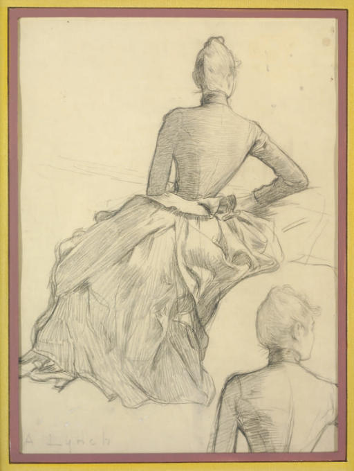Studies of a lady, seen from behind