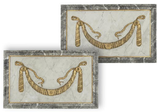 A PAIR OF EMPIRE GILTWOOD, GIL