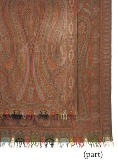 TWO FRENCH CASHMIRE SHAWLS