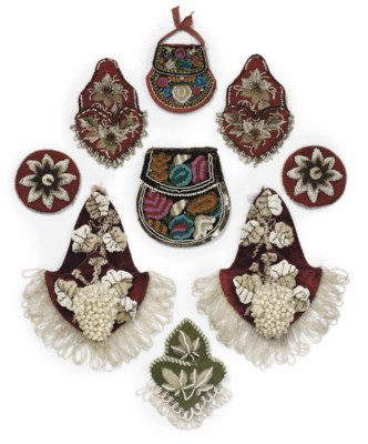 A GROUP OF FRENCH BEAD EMBROID