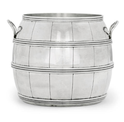 A SILVER-PLATED WINE COOLER
