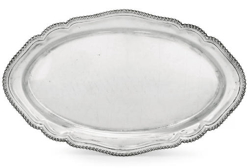 AN ELIZABETH II SILVER MEAT-DI