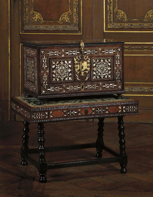 A SPANISH COLONIAL GILT-METAL-