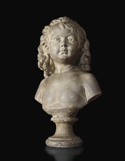 A PLASTER BUST OF SABINE HOUDON