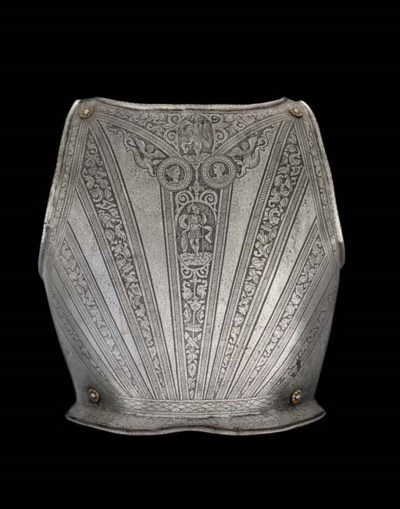 AN ITALIAN BACK-PLATE ETCHED I