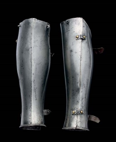 TWO ITALIAN GREAVES, ALMOST FO