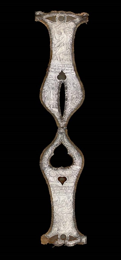 A GERMAN CHASTITY BELT, IN 17T