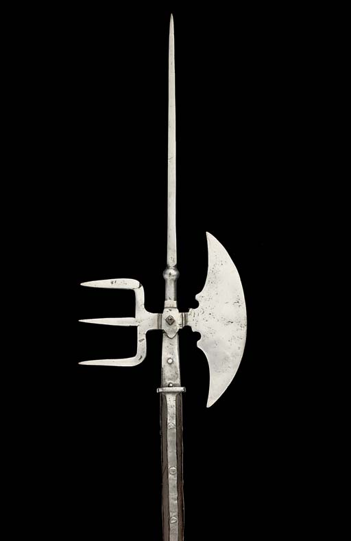 AN ITALIAN HALBERD, IN 16TH CE