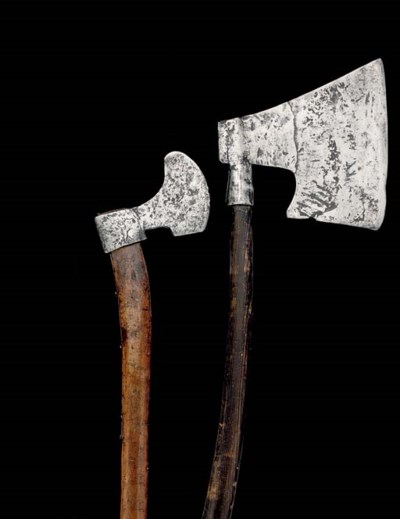 A EUROPEAN FIGHTING AXE; AND A