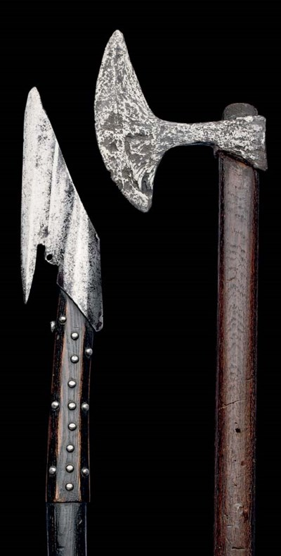 A FIGHTING AXE, CENTRAL OR EAS