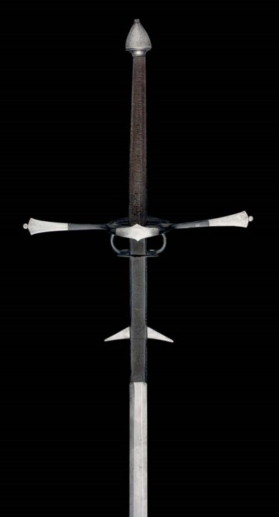 A GERMAN TWO-HAND SWORD, IN EA