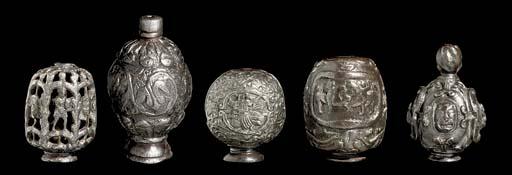 A GROUP OF FIVE RAPIER POMMELS