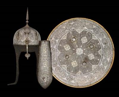 A PERSIAN MATCHING KULAH KHUD,